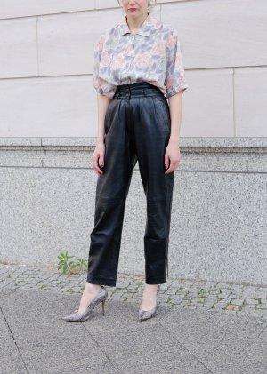 80s highwaist soft lederhose schwarz S 36