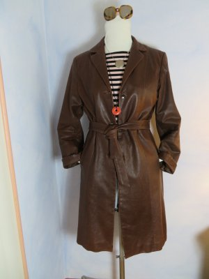 Cabrini Leather Coat brown leather