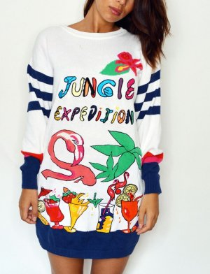 80s Vintage Oversized Sweater Pullover