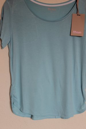81hours T-shirt babyblauw Viscose