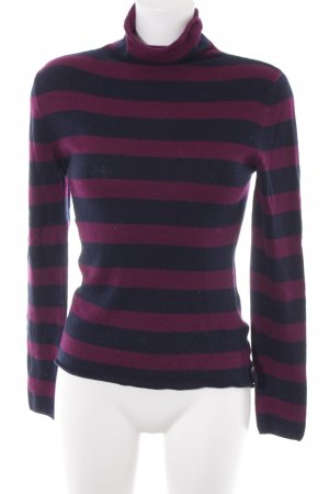 81hours Cashmere Jumper black-brown violet striped pattern casual look