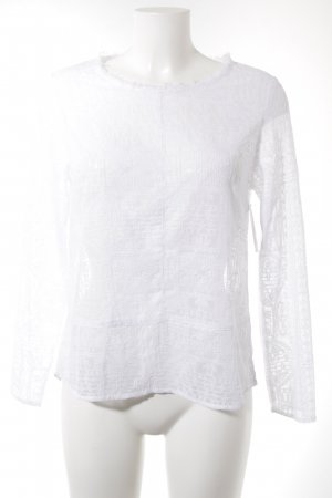 81hours Long Sleeve Blouse white casual look
