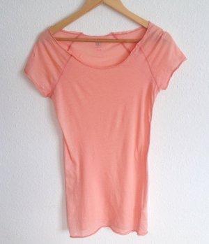 81Hours Longshirt in Peach Pfirsich Shirt Supima Baumwolle S M Yoga Lounge Wear