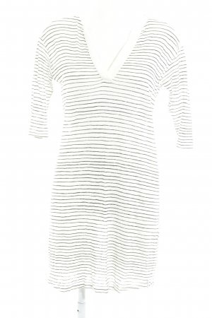 81hours Mini Dress natural white-taupe horizontal stripes casual look