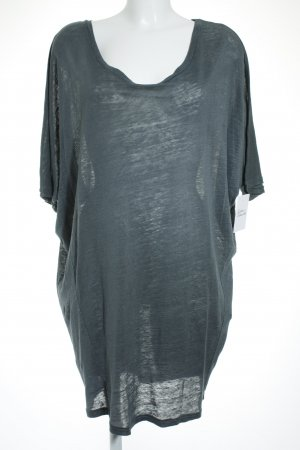 81hours Shirt Dress slate-gray simple style