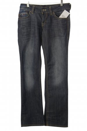 Hilfiger Denim Straight-Leg Jeans dunkelblau Washed-Optik