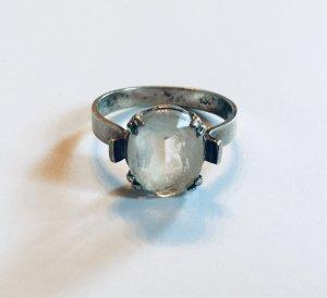 835 Silber Jugendstil Ring mit Bergkristall