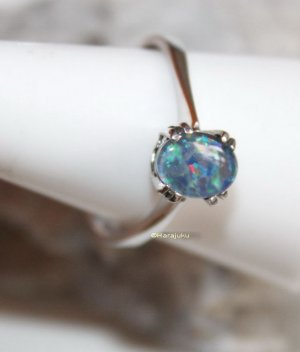 835 Silber Opal Ring
