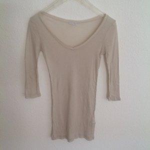 89€ American Vintage 3/4 Shirt in Stone / Stein Pastell Grau Shirt Longshirt S M