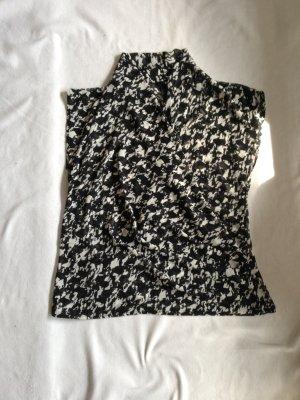 Schicke H&M Wickelbluse in schwarz weiß Gr. 40