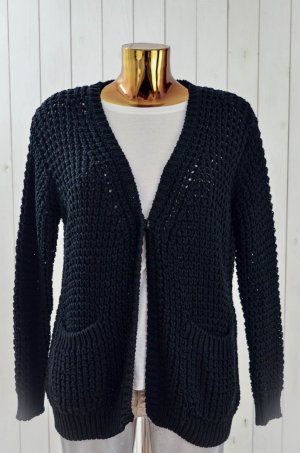 8PM Coarse Knitted Jacket black cotton
