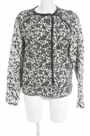 8PM Cardigan natural white-black floral pattern casual look