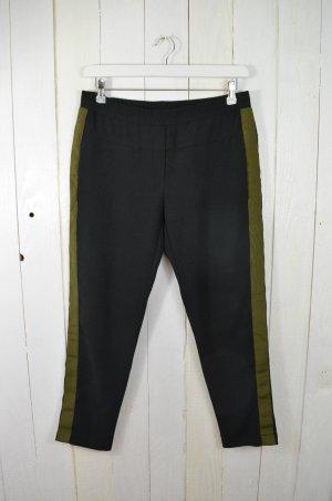 8PM Pantalone a 7/8 nero-grigio-verde Poliestere