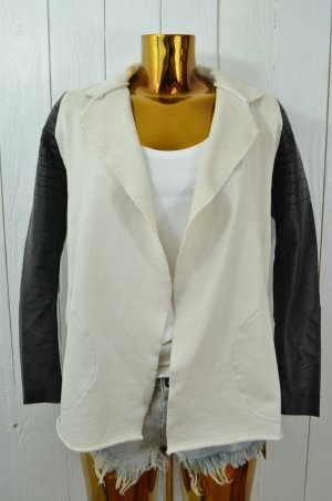 8PM Jacket black-cream cotton