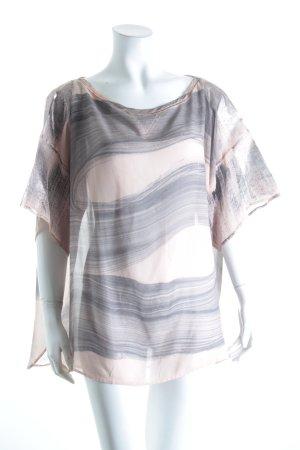 8PM Oversized shirt rosé-grijs abstract patroon Metalen look