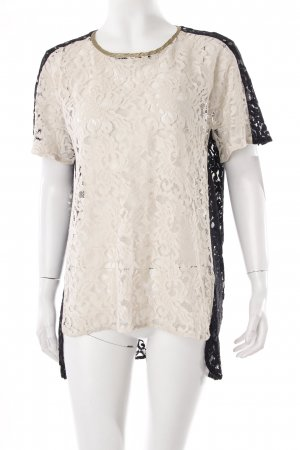 8PM lace shirt black and white cut