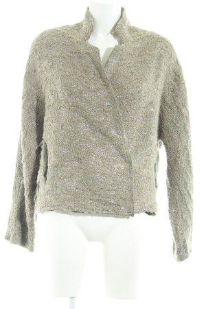 8PM Veste en laine beige-argenté élégant