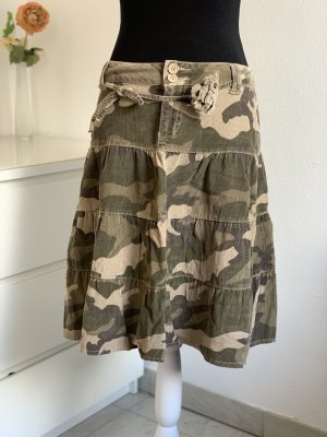 90'a Camouflage Cordrock / Faltenrock