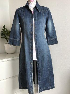 90's Vintage Jeansmantel mit Dreiviertelärmeln / Mantel