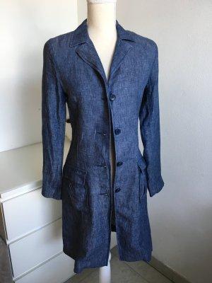 90's Vintage Leinen Mantel