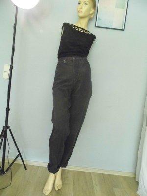 90er Highwaist Karotte Mumjeans Anthrazit 36