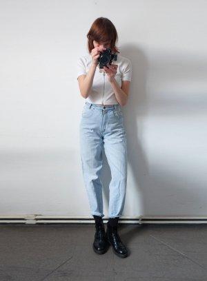 90er jahre mom highwaist karotten jeans hellblau grunge S