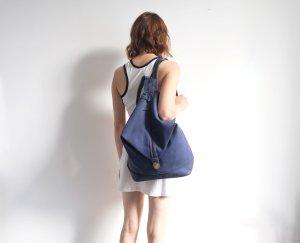 90er jahre rucksack shoulderbag regenbogennähte blau