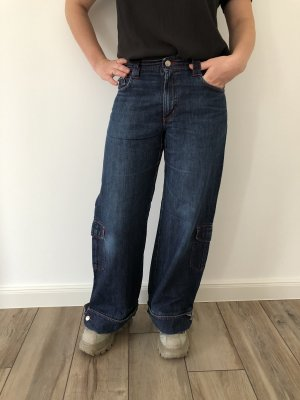 Low Rise Jeans dark blue cotton