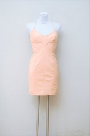 90er Vintage Leder Kleid
