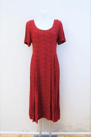 Vintage Robe longue bordeau-rouge foncé