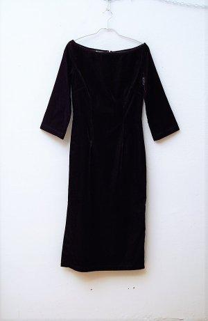 90er Vintage Samtkleid