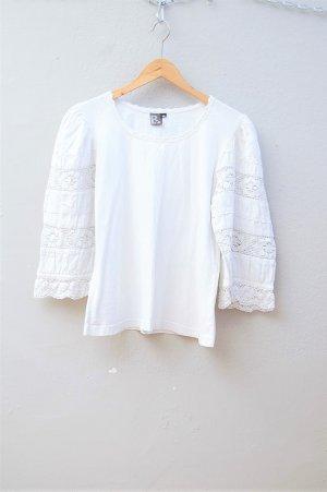 90er Vintage Shirt mit Spitze