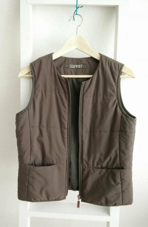 Esprit Quilted Gilet silver-colored