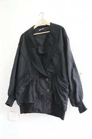 Sonja Marohn Oversized Jacket black mixture fibre