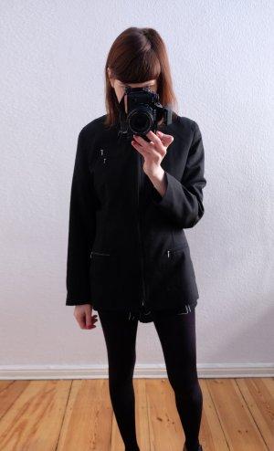90s cleanchic longblazer jacket schwarz minimal S