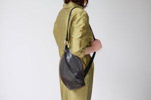 Sac porté épaule brun noir cuir