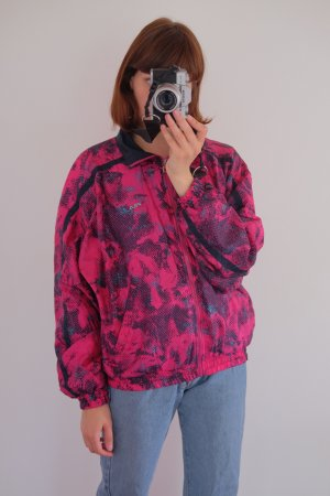 90s fila joggingjacke pink graphisches muster S