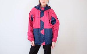 90s helly hansen regenjacke pink blau unisex oversized S M