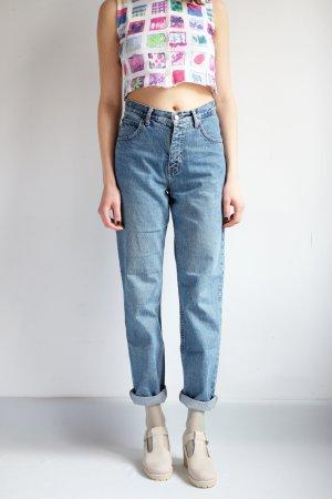 90s highwaist karotten jeans blau denim S 36 38