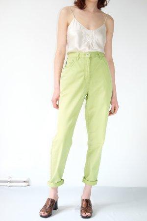 Arizona High Waist Jeans lime-green cotton