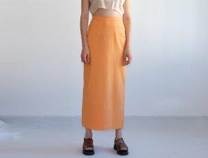 90s highwaist maxi jeansrock stretch orange sommer festival S 36