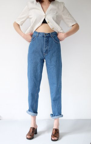 90s highwaist mom jeans blau denim karotte M42 40