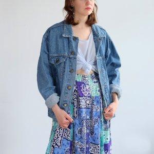 Denim Jacket neon blue cotton