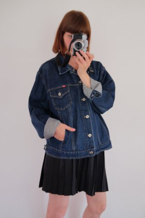 90s jeansjacke mittelblau oversized unisex