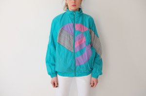 90s joggingjacke pastell geometrisches muster S M 36 38 40