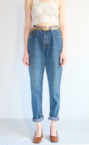 90s Lee highwaist mom jeans straightleg denim blau S 38