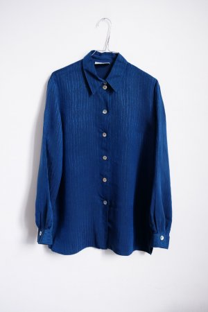 90s longbluse muster struktur glanz cleanchic