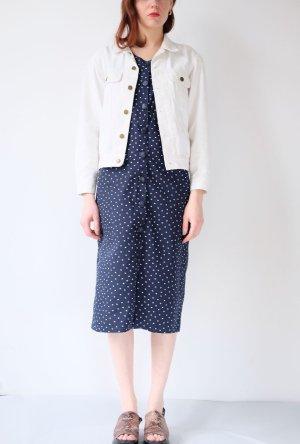 Robe trapèze bleu foncé-blanc