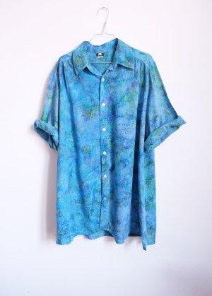 90s mermaid batik shirtdress bluse longbluse oversize
