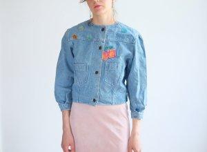 Veste en jean bleu azur coton
